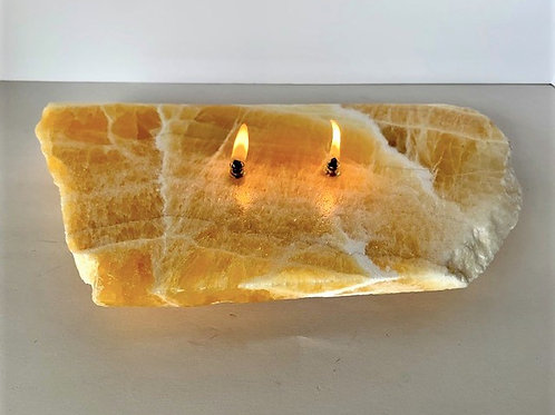 Double Wick Rock Candle -large