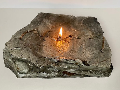 Single Wick Rock Candle -medium