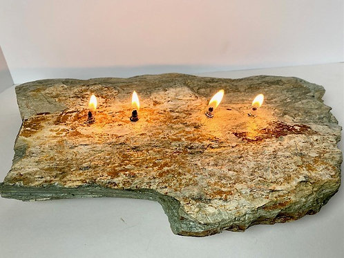 4-Wick Rock Candle