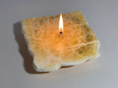 Single Wick Rock Candle -small