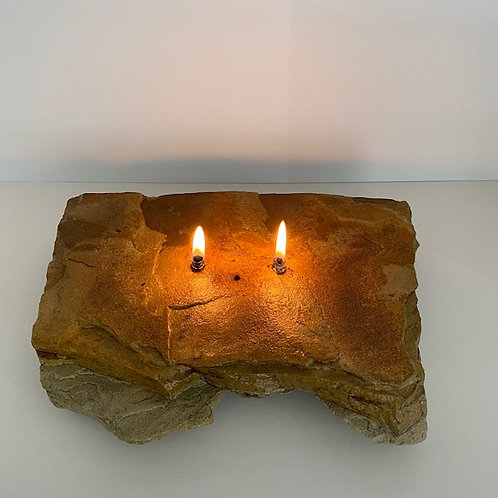 Double Wick Rock Candle