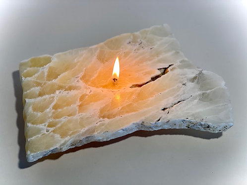 Single Wick Rock Candle -large