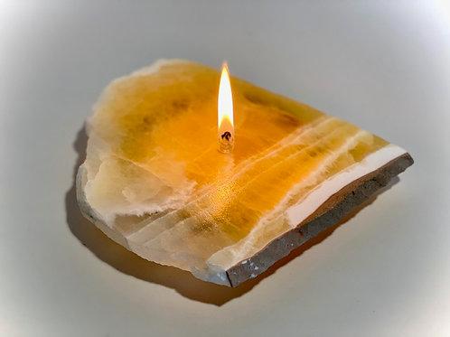 Single Wick Rock Candle -medium