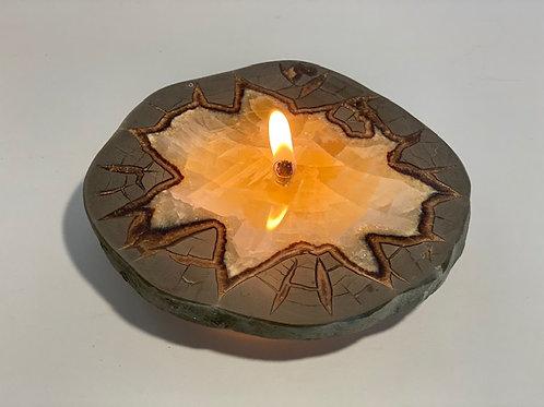 Septarian Nodule Oil-burning Candle