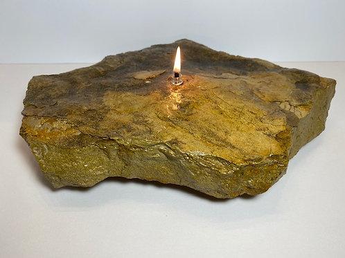 Single Wick Rock Candle -large