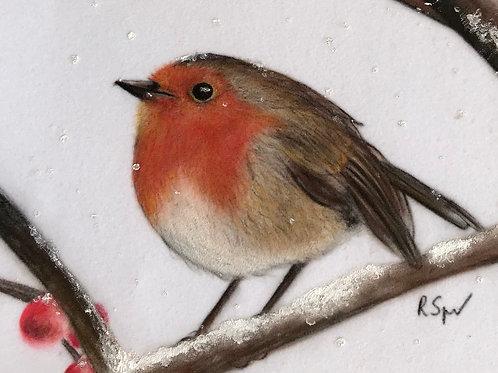 Original Robin in the snow