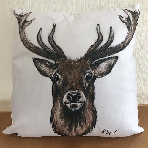 'Stag' vegan suede cushion