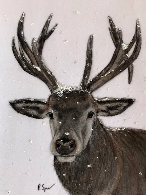 Original Stag in the snow
