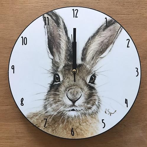 'Hare' wooden clock