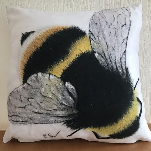 'Bumble Bee' vegan suede cushion