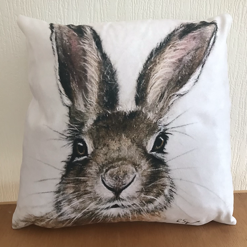'Hare' vegan suede cushion