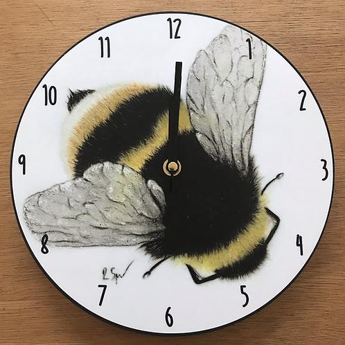 'Bumble bee' wooden clock
