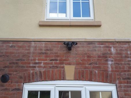Security system for a customer including garage interlinked