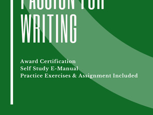 Award in Passion for Writing