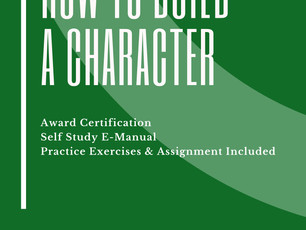 Award in How to Build a Character
