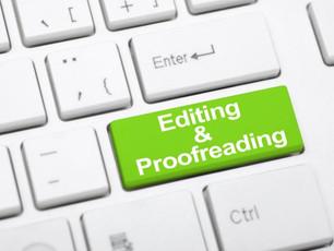 Editing V Proofreading