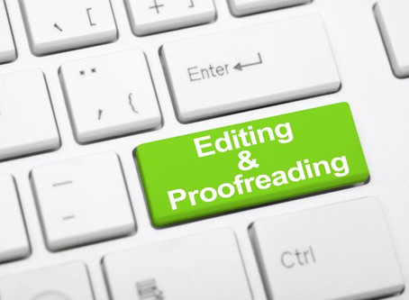 Editing V Proofreading