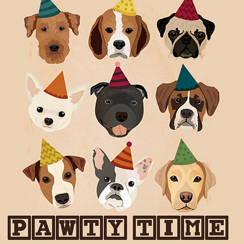 PAWTY TIME Coaster
