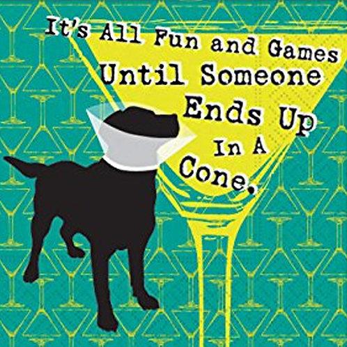 All Fun & Games Cone Coaster