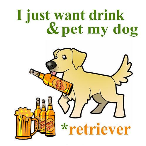 Drink & Pet My Dog Coaster