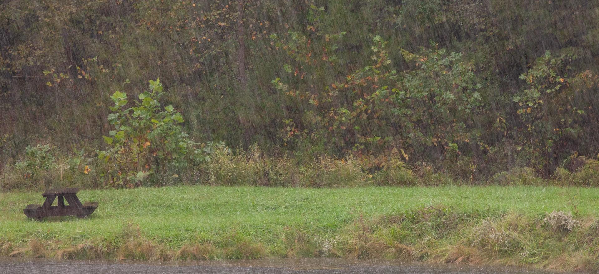 Rainy Tecumseh Lake