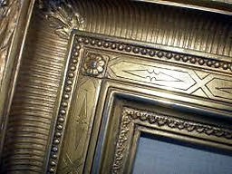 Gold detailed picture frame