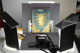 Painting being photographed