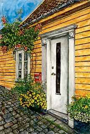 Original Yellow House painting