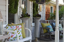Outdoor decor and benches
