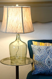 Side table and decorative lamp