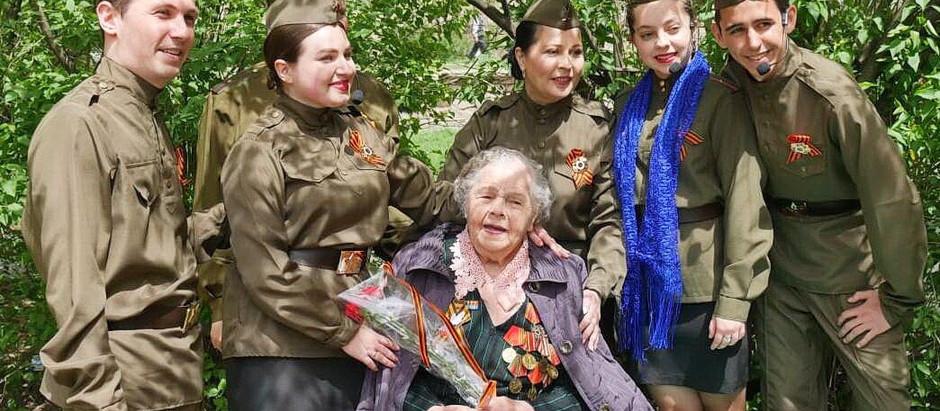 Эшелоном Победы концертная бригада РДК проехалась к нашим ветеранам Великой Победы