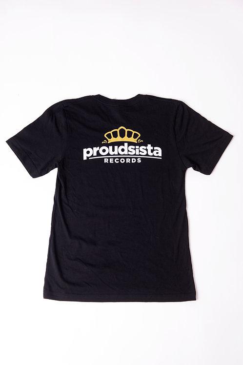 Proudsista T-shirt (back), Black