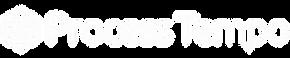 White logo with less transparent tempo_p