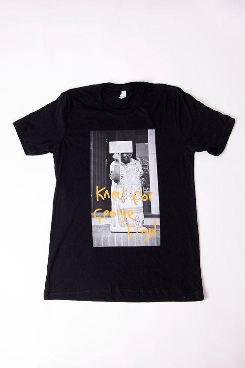 Kneel for George Floyd T-shirt, Black