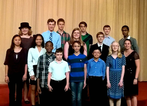 2016 Studio Recital participants