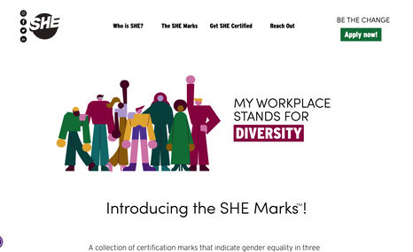 Syndicate for Human Equity (SHE) A collection of certification marks that indicate ...