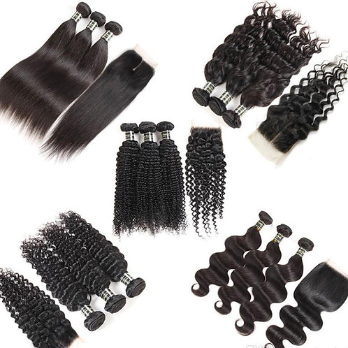 Virgin wigs,lace clousers, frontals, bundles