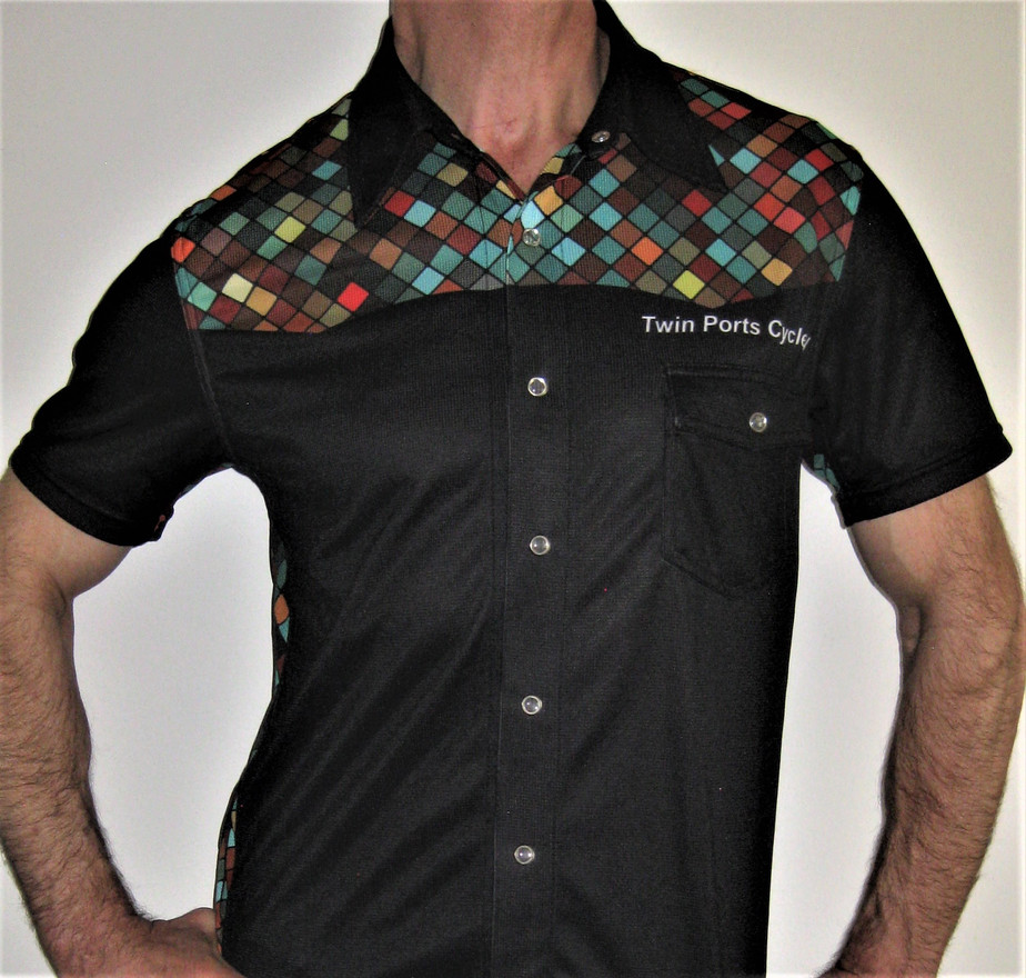 Custom Button-down shirt | custom sublimated trade show apparel | Custom printed casual Button down shirt | Custom sublimated casual Button down shirt | Custom Button down sublimated shirt | custom sublimation apparel | custom sublimated shirts | custom sublimated trade show shirts | custom sublimated button up casual shirt collar