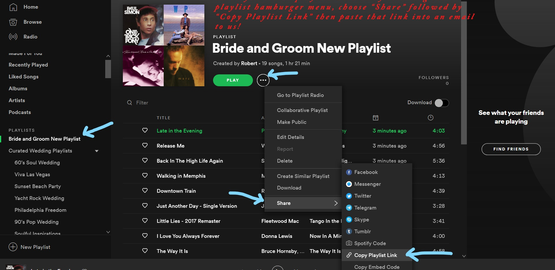 Spotify Desktop App Sharing your edited Playlist with Station Identification