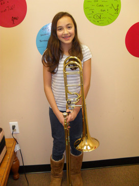 A young Atalya passed off her major scales.