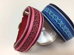 red and blue dog collar