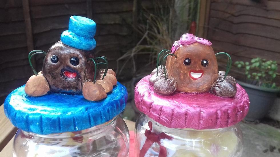 Mrs Love Bug Jar and Chocolates