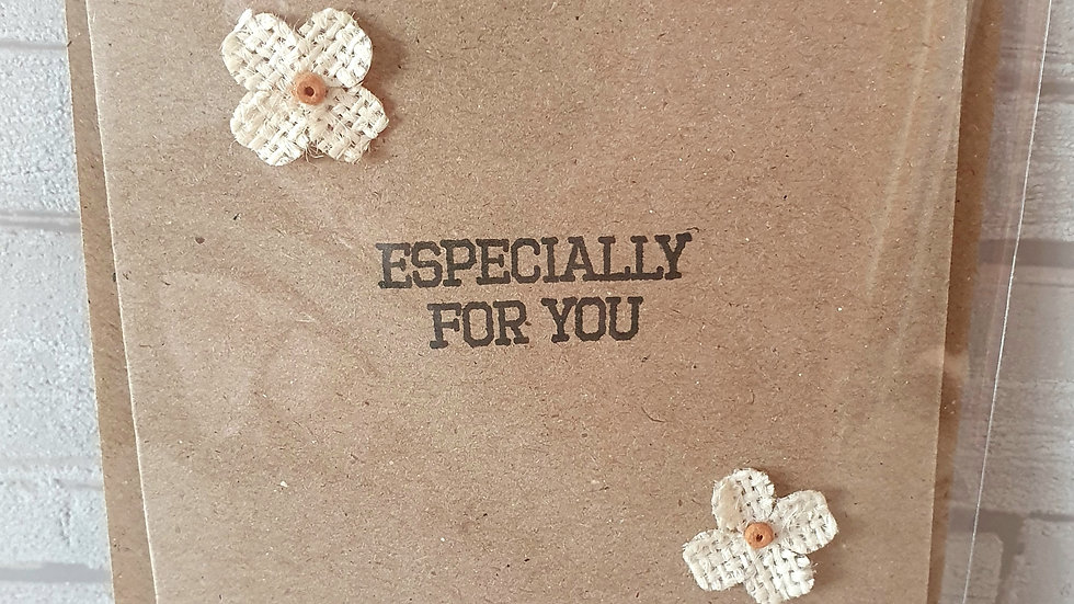 Especially for you