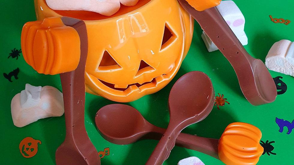 Pumpkin Hot Chocolate Spoons