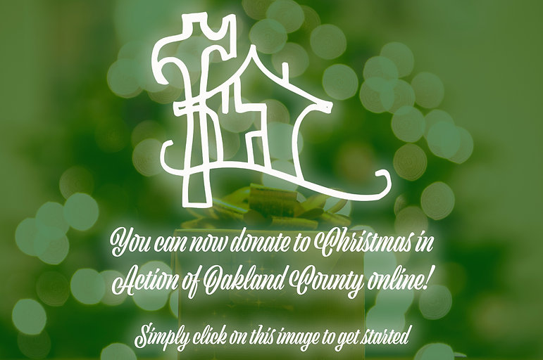 Christmas in Action of Oakland County online donation