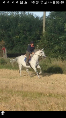 Lisa Dandy horse riding at Corballis farm