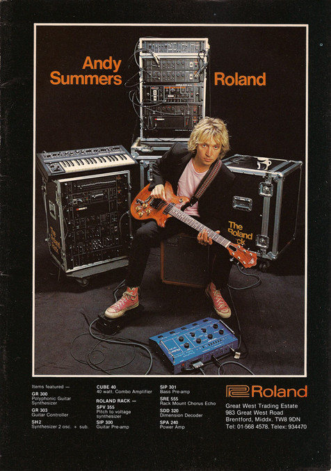 Roland G-303 GR-300, Andy Summers