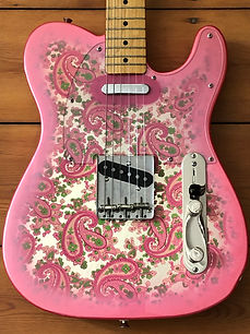 1996 Fender Pink Paisley Telecaster Electric Guitar