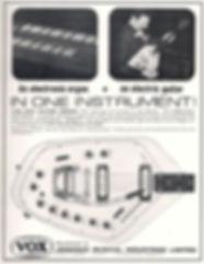 Vox V251 Guitar Organ Advert