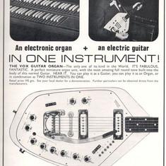 1966 Vox V251 Guitar Organ, Vox Ad